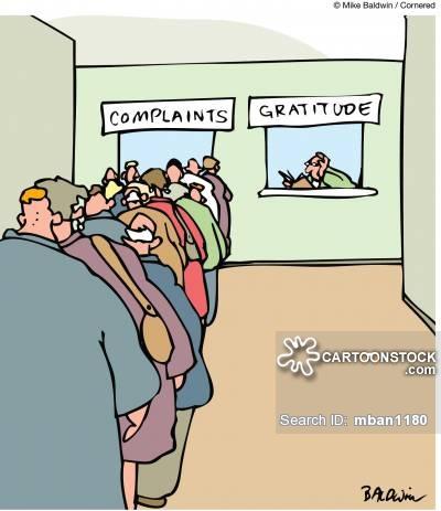 Complaints and Gratitude.