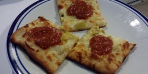 Monday Dinner - Artichoke & Garlic Pizza